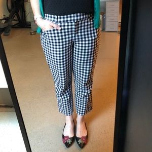 LOFT Marisa Fit Checked Pants